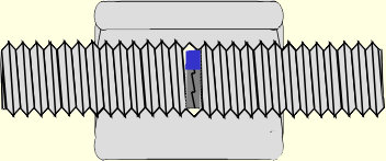 Gewindestangen stumpf in Verbindungsmuffe verlängert